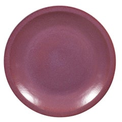 Chinese Vintage Purple Ceramic Charger Plate from the 1980s, Two Available