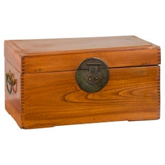 Chinese Vintage Treasure Box with Traditional Bronze Hardware