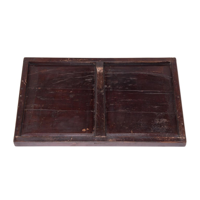 Elm Chinese Vintage Vendor Tray, circa 1900 For Sale