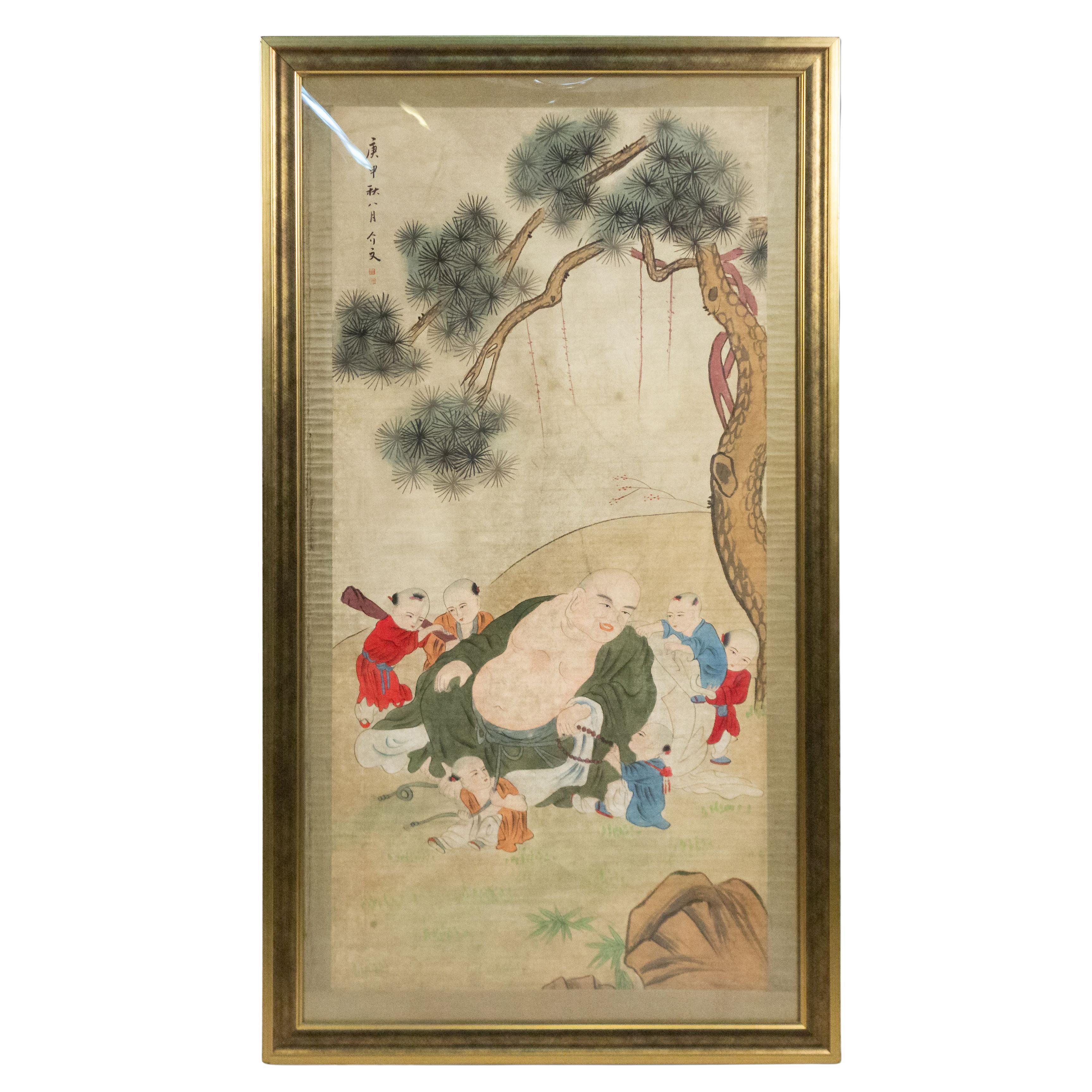 Chinese Watercolor Children Portrait