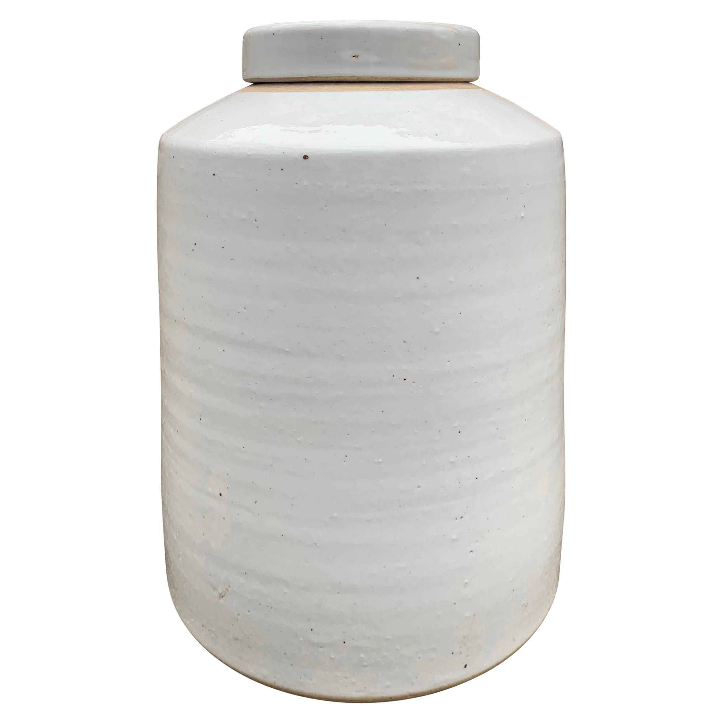 Chinese White Glazed Ginger Jar