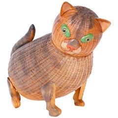 Chinese Wicker Kitten Box