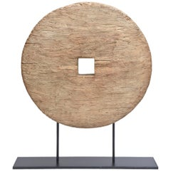 Chinese Wood and Metal Organic Sculpture