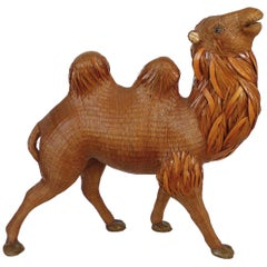 Chinese Woven Reed Sculpture of a Camel from the Shanghai Collection