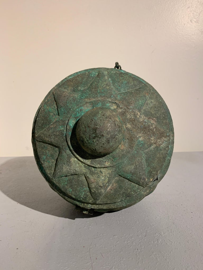 Chinese Yuan Dynasty Bronze Lotus Jar, 14th Century, China For Sale 5