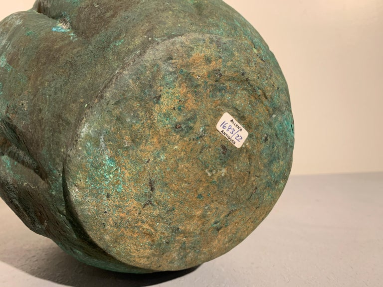 Chinese Yuan Dynasty Bronze Lotus Jar, 14th Century, China For Sale 11