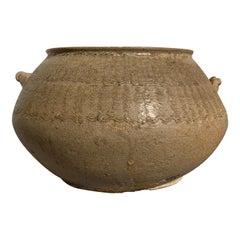 Chinese Yueyao Celadon Glazed Jar 'Guan', Five Dynasties, 10th Century