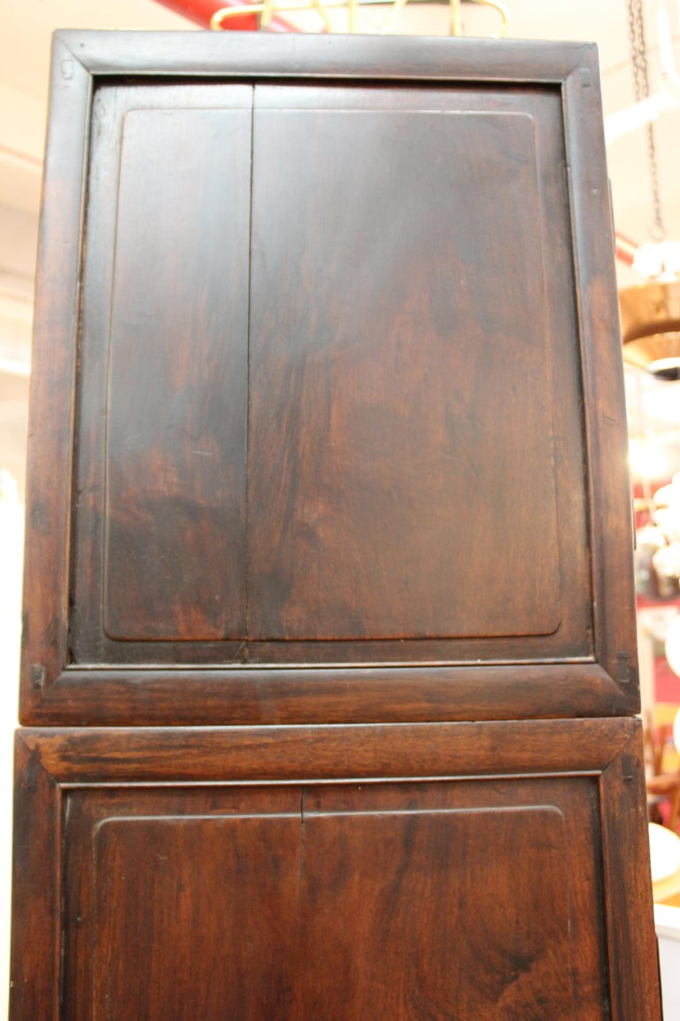Chinese Zitan Wood Cabinets with Hatchets For Sale 11