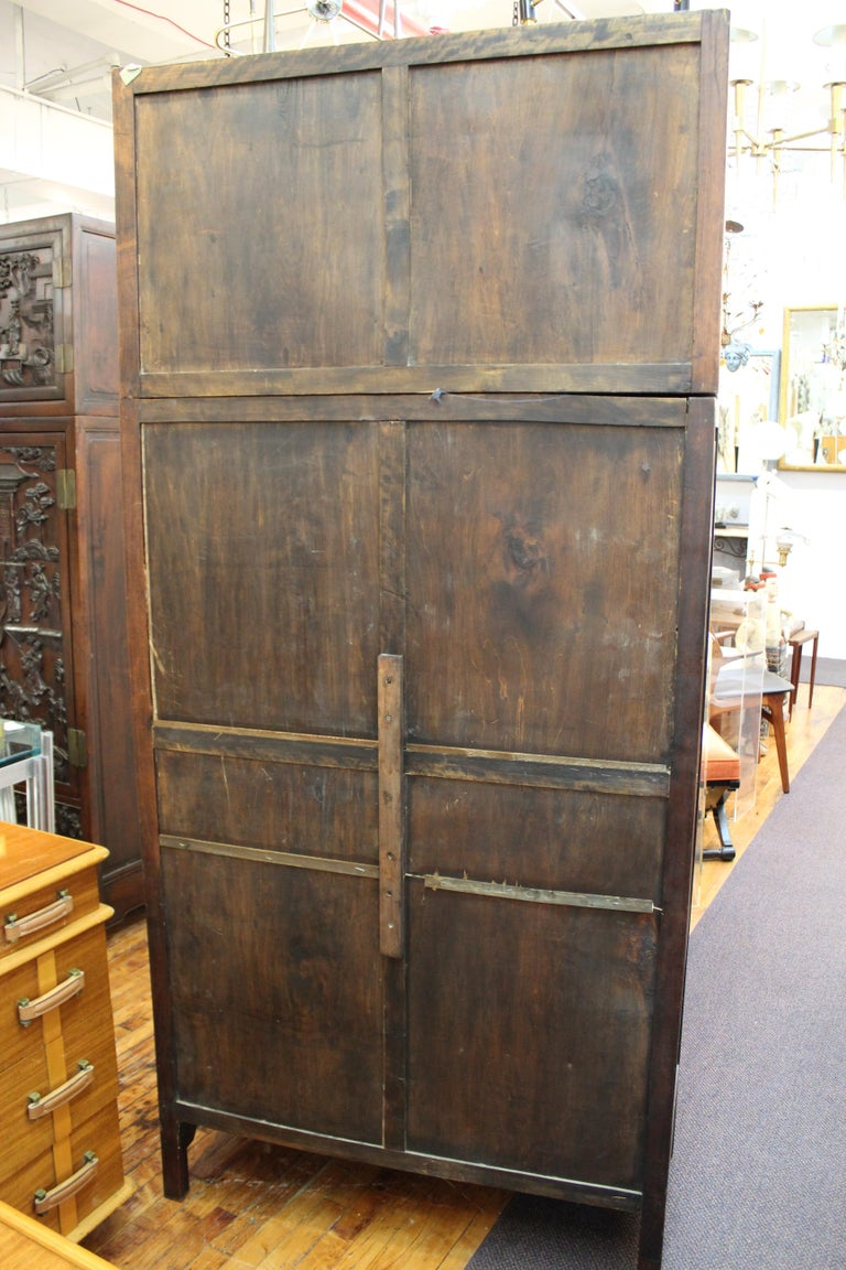 Chinese Zitan Wood Cabinets with Hatchets For Sale 14