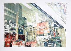 Coca-Cola, City Reflection Silkscreen by CJ Yao