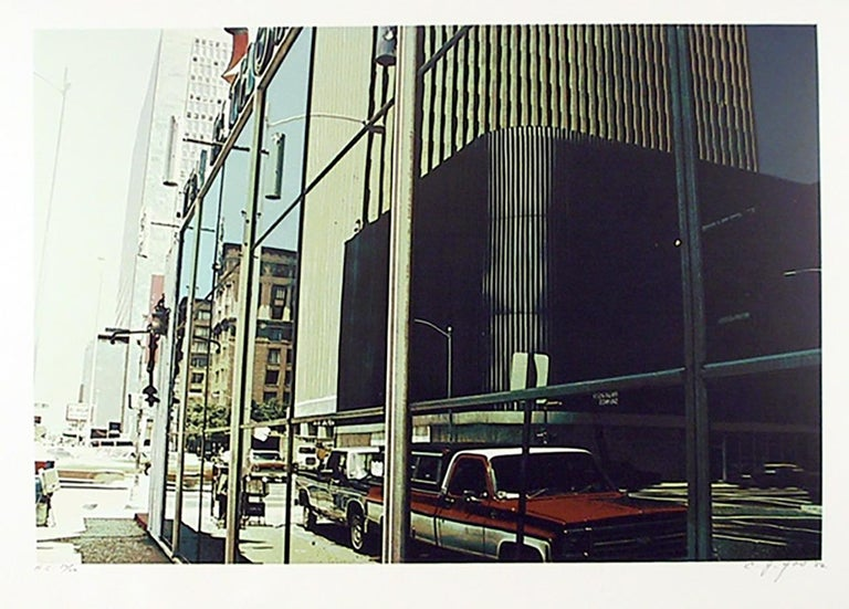 C.J. (Ching Jang) Yao Landscape Print - Downtown Houston, Photorealist Silkscreen by CJ Yao
