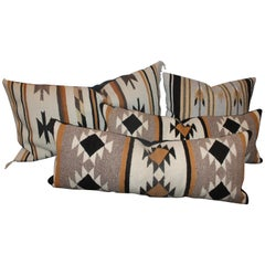 Chinle Navajo Indian Weaving Pillows, Collection of Four