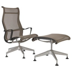 'Chino' Herman Miller Studio 7.5 Setu Lounge Chair and Ottoman