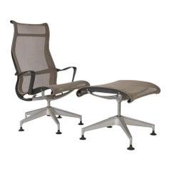 'Chino' Herman Miller Studio 7.5 Setu Lounge Chair and Ottoman