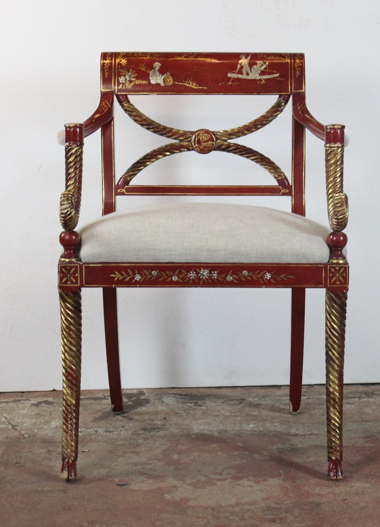 Chinoiserie Accent Chair 6