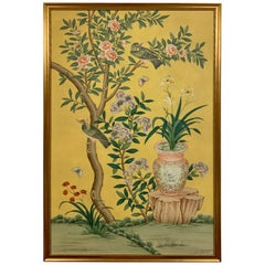 Chinoiserie Asian Painting on Board
