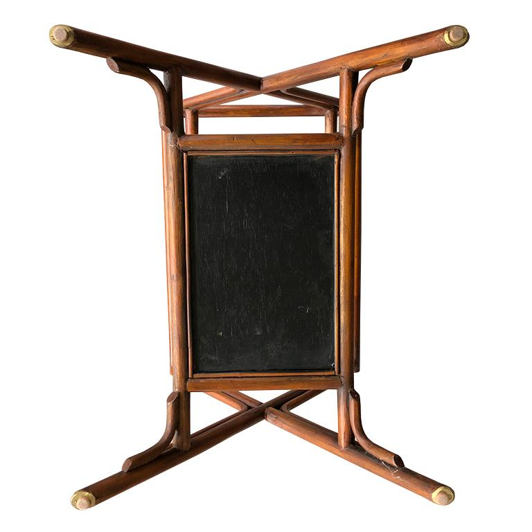 Bamboo and Cane Tray Table with removable Top Maitland Smith Philippines 1970s  For Sale 4