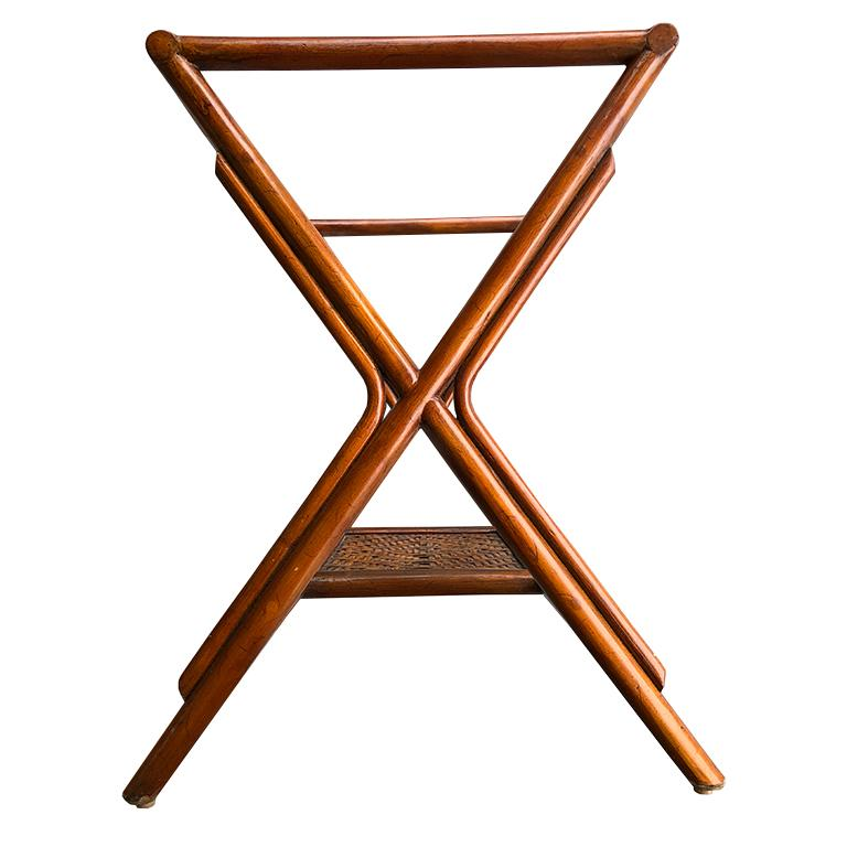 Bamboo and Cane Tray Table with removable Top Maitland Smith Philippines 1970s  For Sale 2