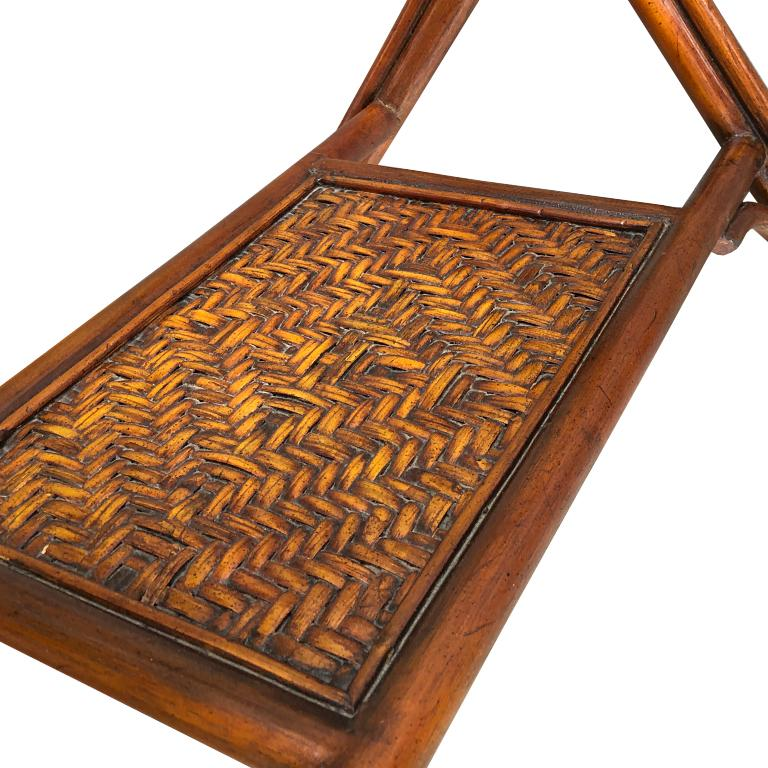 Bamboo and Cane Tray Table with removable Top Maitland Smith Philippines 1970s  For Sale 3
