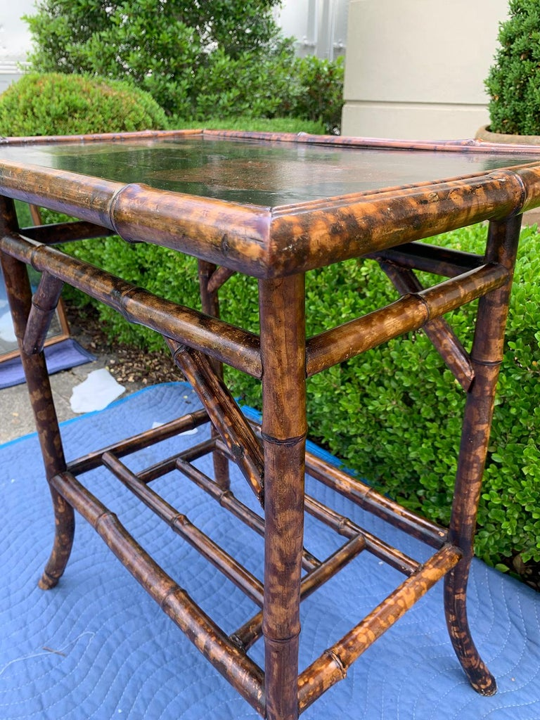 Chinoiserie Bamboo Side Table, circa 1900 For Sale 6
