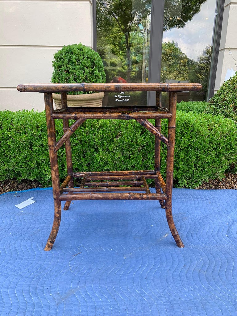 Chinoiserie bamboo side table, circa 1900.