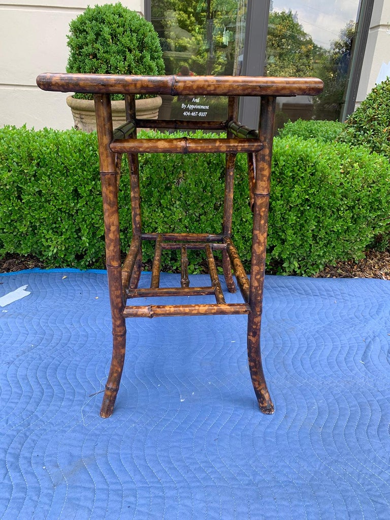 Early 20th Century Chinoiserie Bamboo Side Table, circa 1900 For Sale