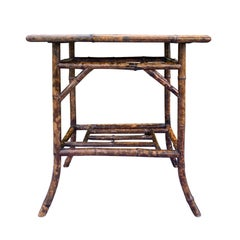 Chinoiserie Bamboo Side Table, circa 1900