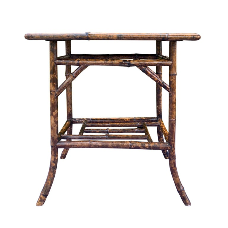 Chinoiserie Bamboo Side Table, circa 1900 For Sale