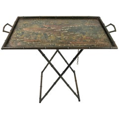 Chinoiserie Bar Tray on Stand