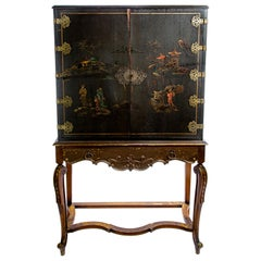 Chinoiserie Chinese Cabinet on Stand