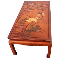 Chinoiserie Coffee Table Hand Painted One of a Kind, circa 1920