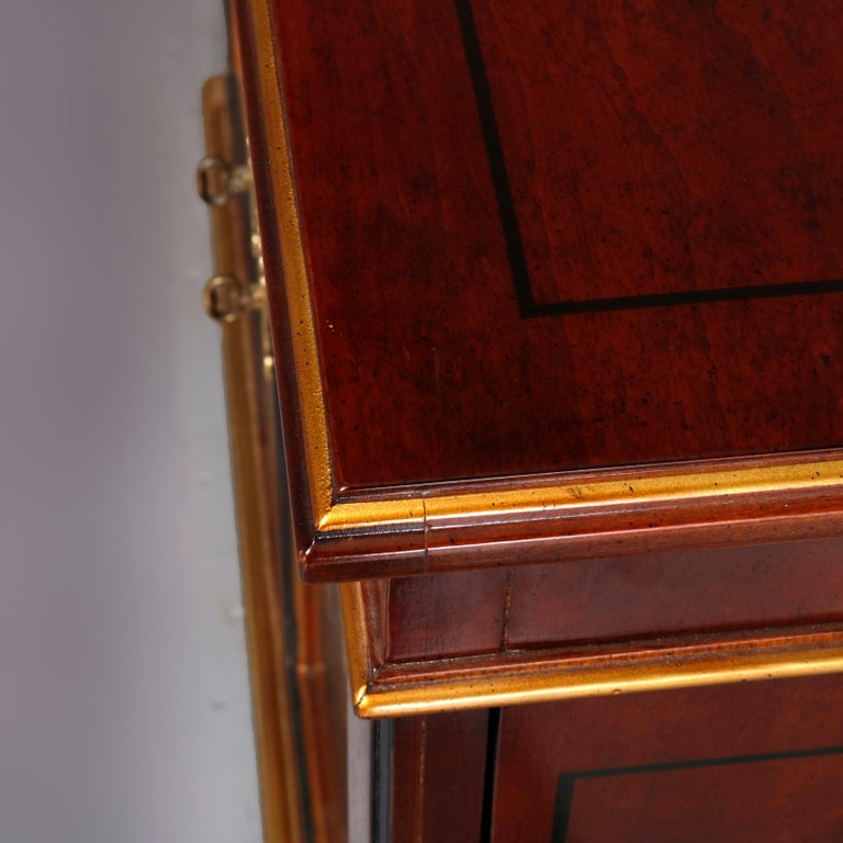 Chinoiserie Decorated Parcel-Gilt Mahogany Credenza by Drexel, 20th Century For Sale 14