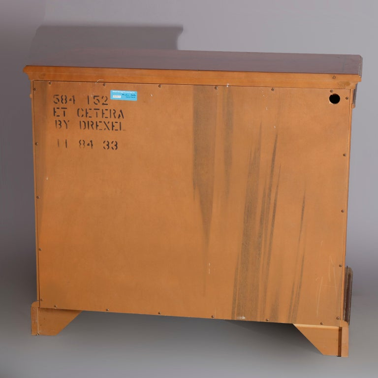 Chinoiserie Decorated Parcel-Gilt Mahogany Credenza by Drexel, 20th Century For Sale 1