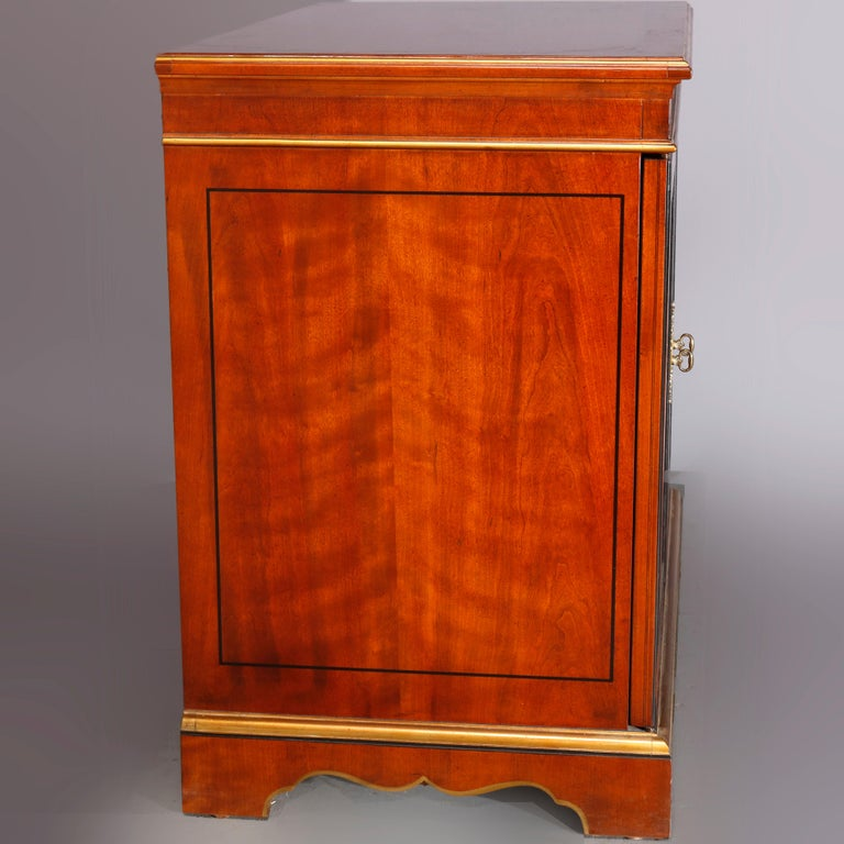 Chinoiserie Decorated Parcel-Gilt Mahogany Credenza by Drexel, 20th Century For Sale 2
