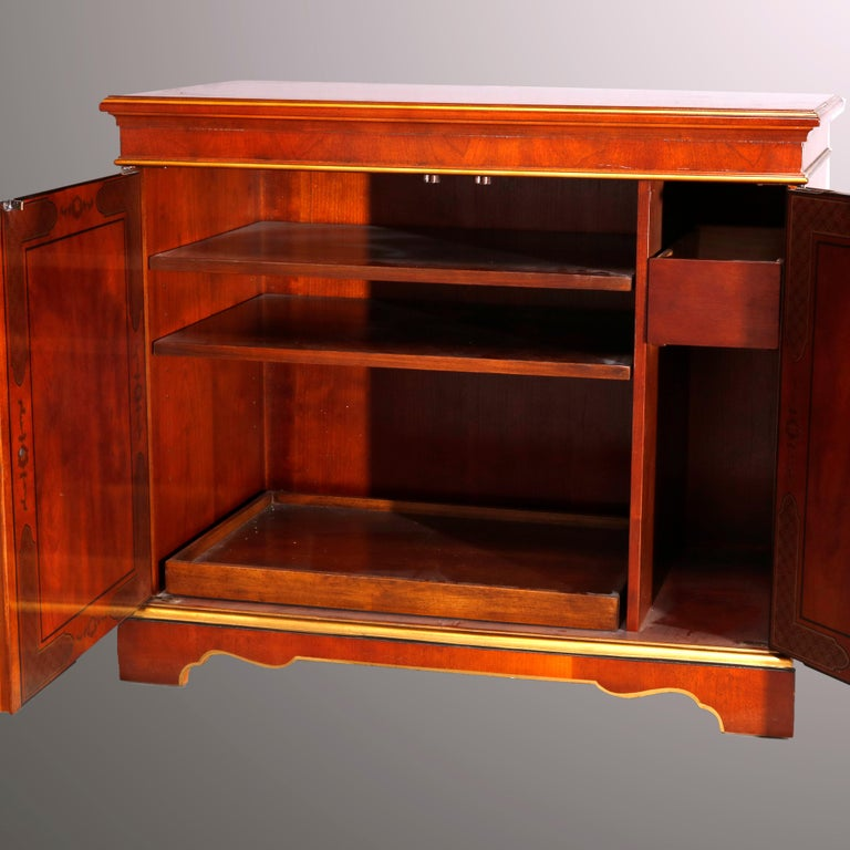 Chinoiserie Decorated Parcel-Gilt Mahogany Credenza by Drexel, 20th Century For Sale 3
