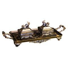 Chinoiserie Desk Set, 19th Century