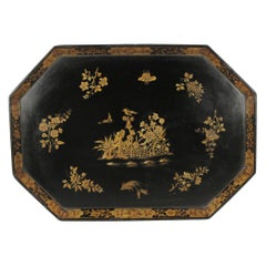 Chinoiserie Dyson and Benson London Tray, circa Late 19th Century
