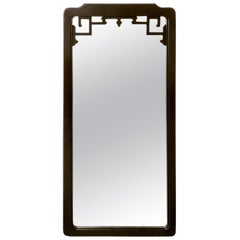 Chinoiserie Ebonized Frame Mirror