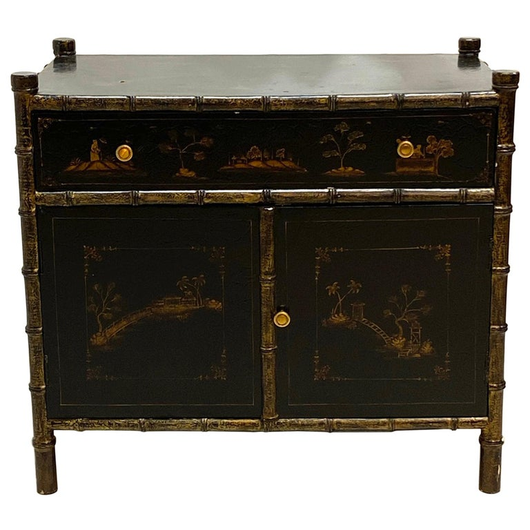 Chinoiserie Faux Bamboo Stand For Sale