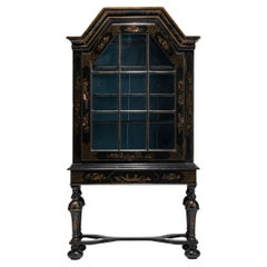 Chinoiserie Hand Painted Cabinet on Stand, England circa 1780