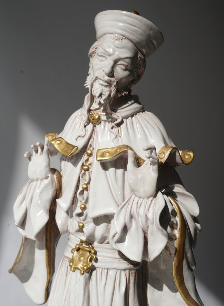 Italian Porcelain Figure by Batiguani For Sale 4