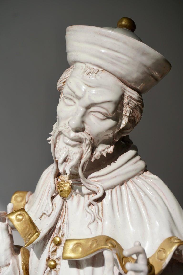 Italian Porcelain Figure by Batiguani For Sale 5