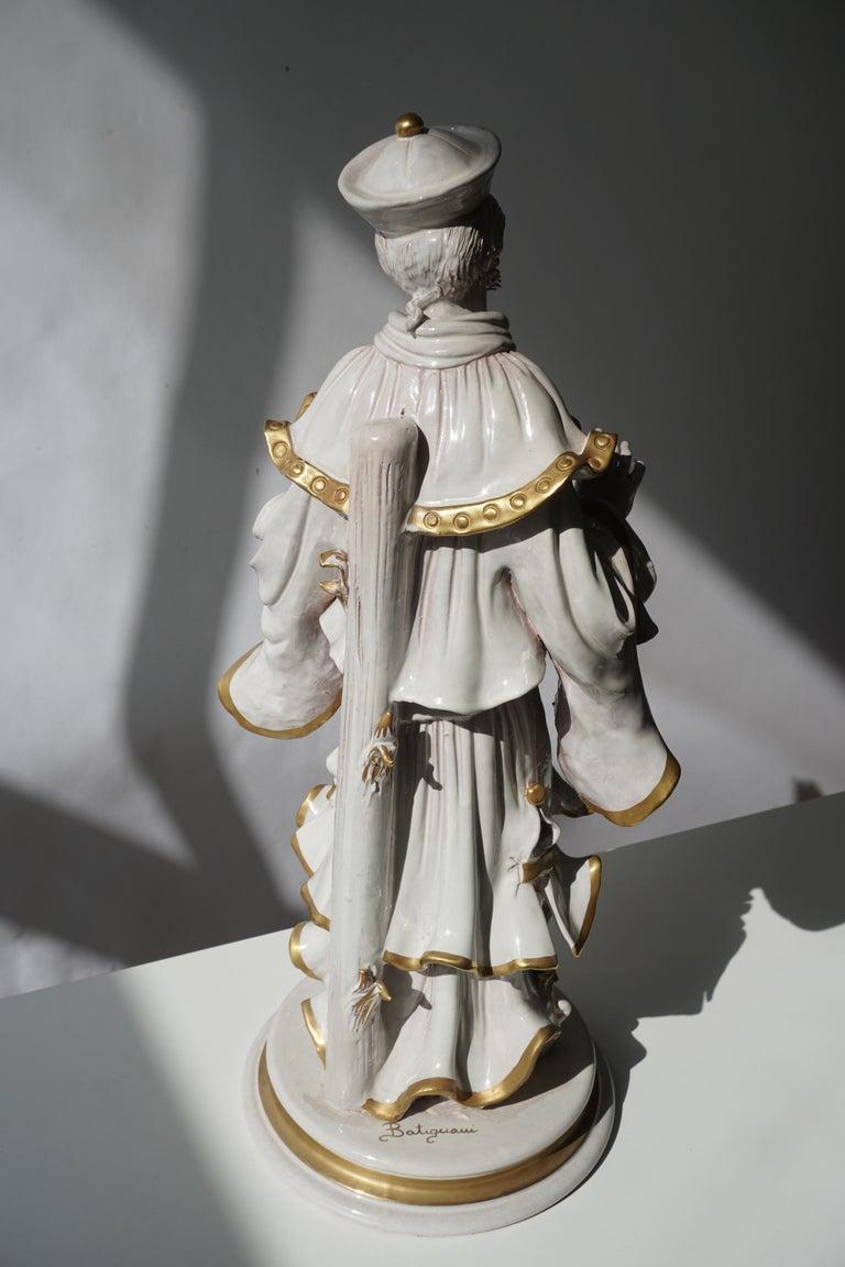 Italian Porcelain Figure by Batiguani For Sale 6