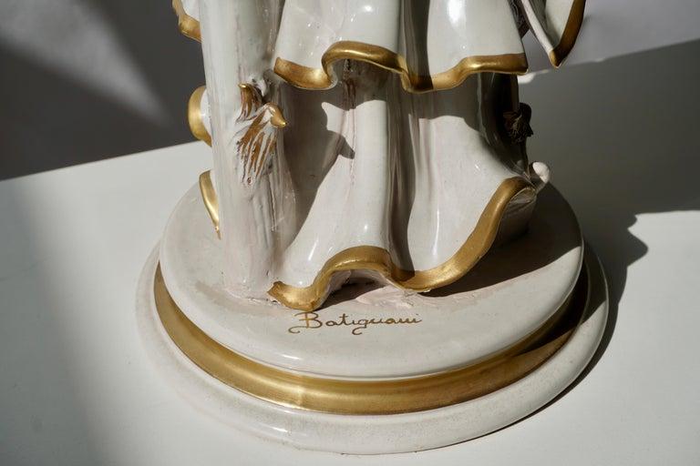 Italian Porcelain Figure by Batiguani For Sale 7