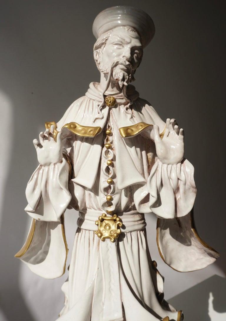 Italian Porcelain Figure by Batiguani For Sale 9