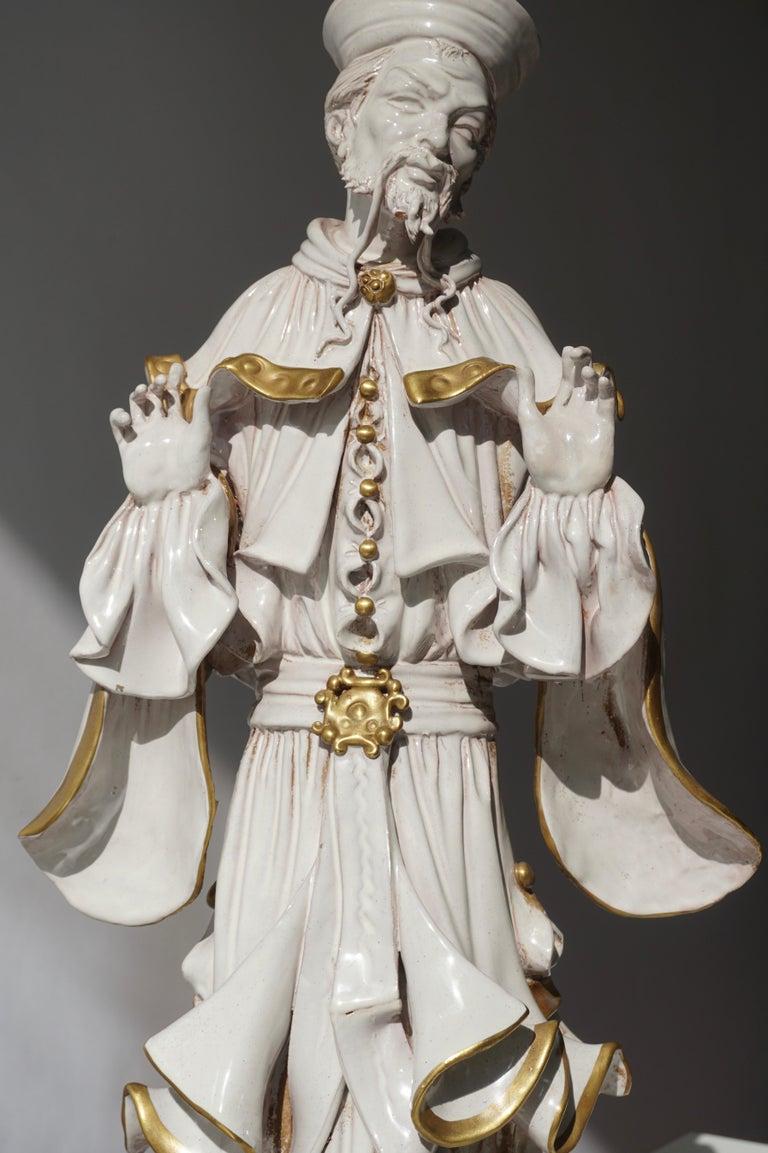 Italian Porcelain Figure by Batiguani For Sale 10