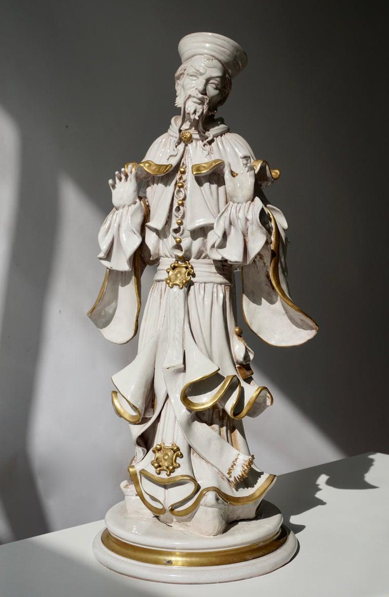 Italian porcelain sculpture. Measures: Height 56 cm. Width 26 cm. Depth 22 cm.