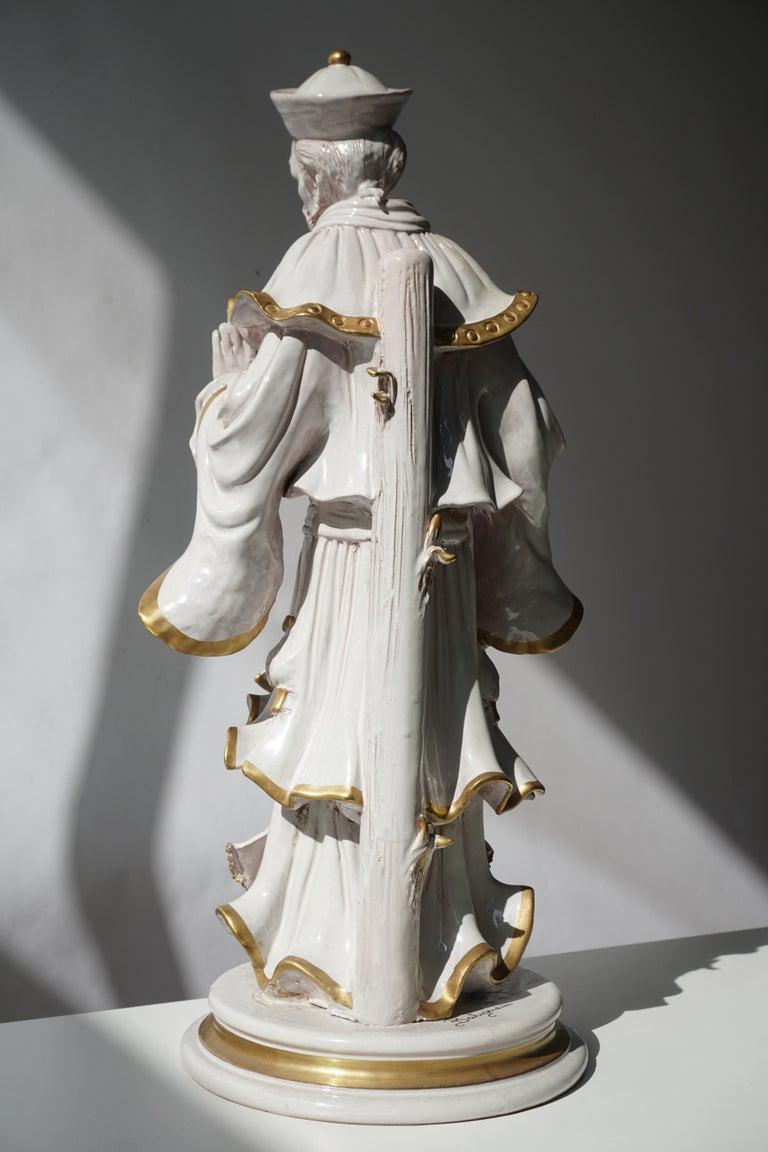 20th Century Italian Porcelain Figure by Batiguani For Sale