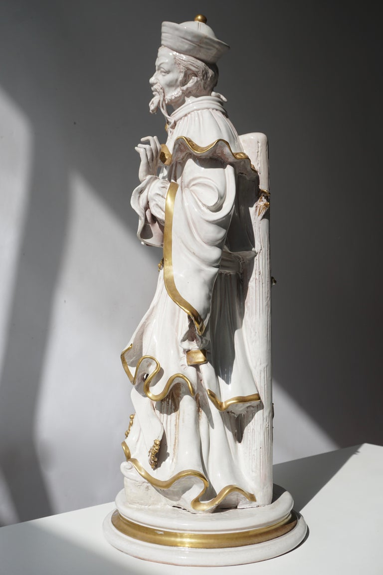Ceramic Italian Porcelain Figure by Batiguani For Sale