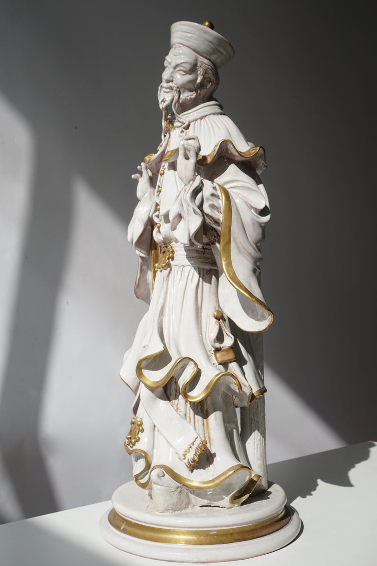 Italian Porcelain Figure by Batiguani For Sale 1